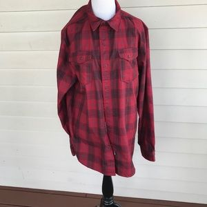 Men's The North Face Red Plaid Flannel Shirt
